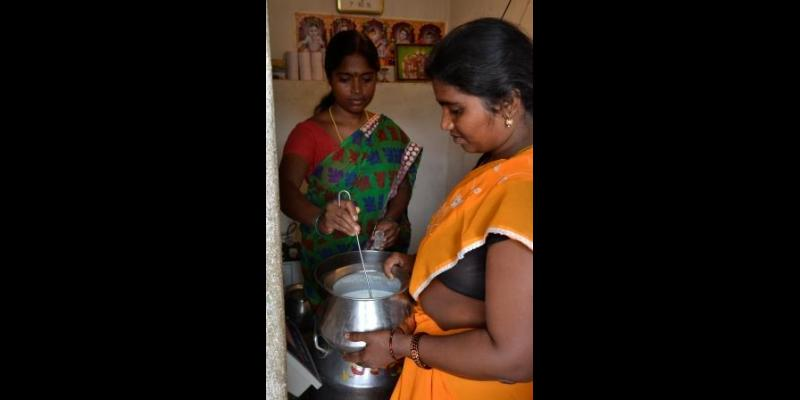 Milk Collection at Shreeja MMPC